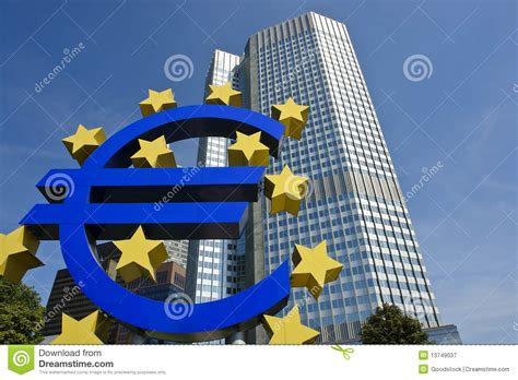 banche immagini free european central bank with sign frankfurt royalty