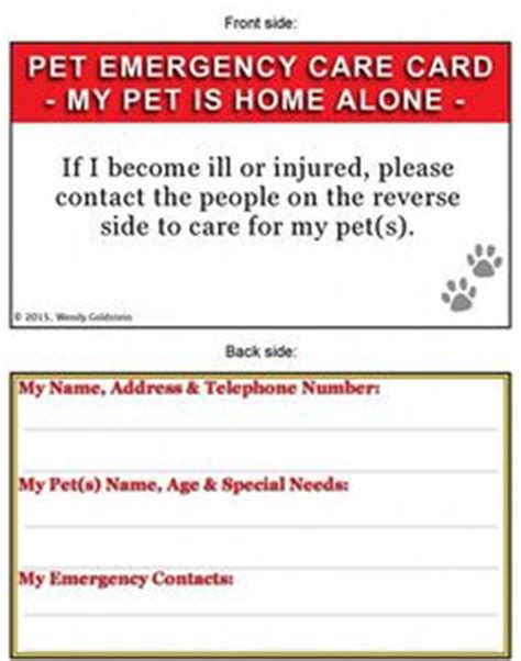 emergency pet ionfo card template free printable pet sitter info sheet from haveashley