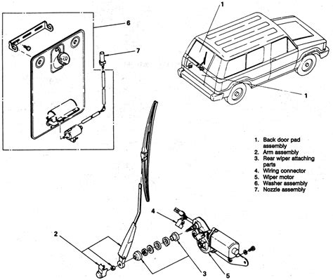 repair guides windshield wiper motor rear window