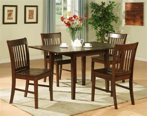 Table And Chair Sets For Kitchen 5pc Rectangular Kitchen Dinette Table 4 Chairs Mahogany Ebay