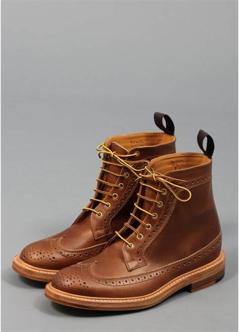 trickers for triads cavalier longwing brogue boot brown