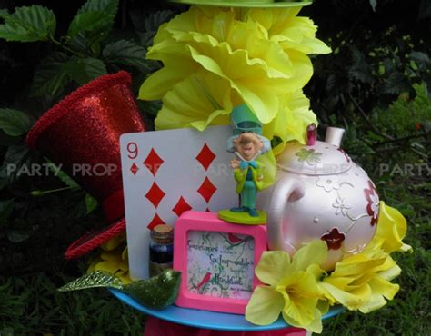 Easy Curtain Ideas Alice In Wonderland Table Decoration Party Prop Hire