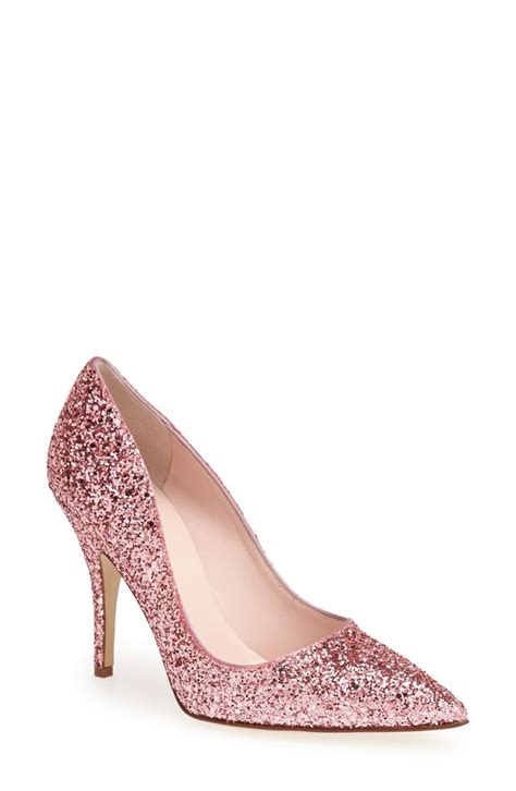 yes to this glitter pink kate spade pumps our favorite