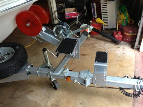 boat trailer winch step ladder on front of trailer the hull truth boating and