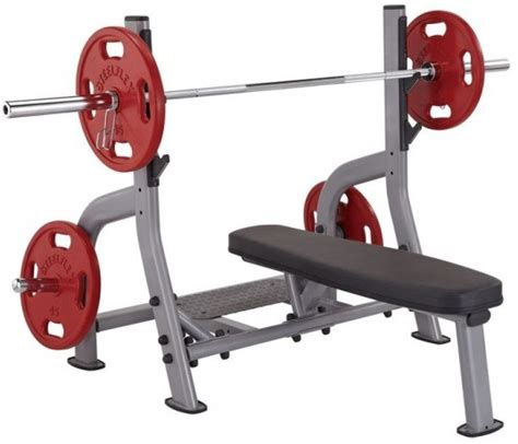 commercial grade bench press steelflex olympic flat bench