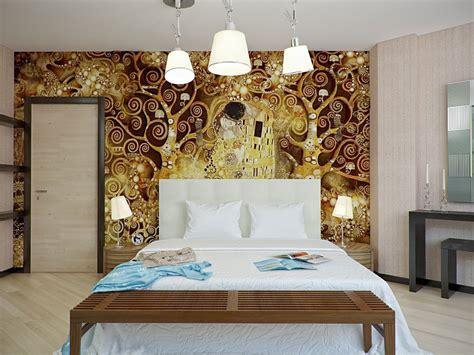 interior home bedroom  light wallpaper ideas