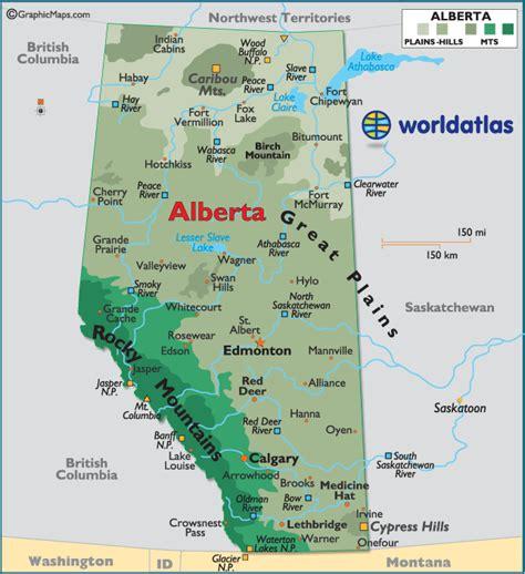 printable map alberta alberta canada large color map