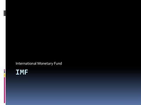 Imf Notes For Mba imf