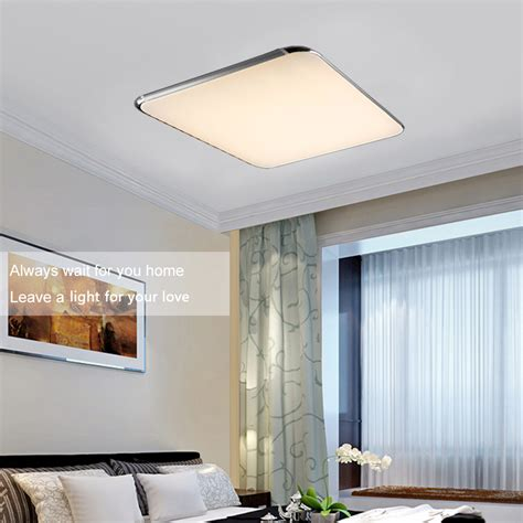 Led Bedroom Ceiling Lights Uk 30w 52 52cm Led Square Ceiling Light Living Room Kitchen