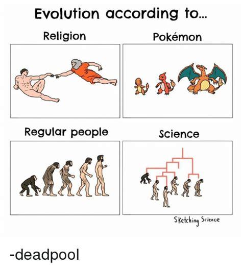 Meme Evolution - evolution according to religion pok 233 mon regular people
