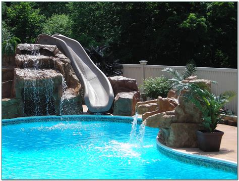 inground pool with waterfall waterfall slides for inground pools pools home