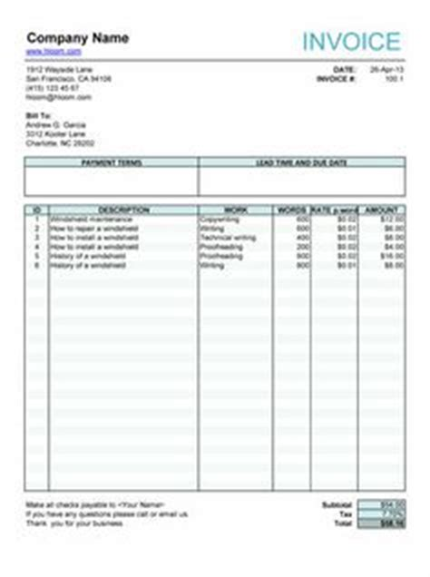 freelance invoice template word free invoice template on invoice