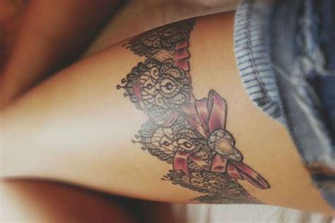 simple tattoo on thigh 20 simple garter tattoos