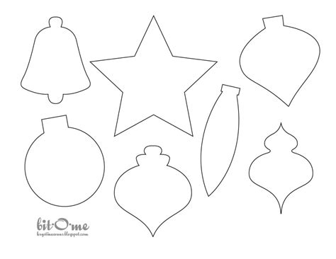 Bit O Me Felt Christmas Tree Paper Ornaments Templates