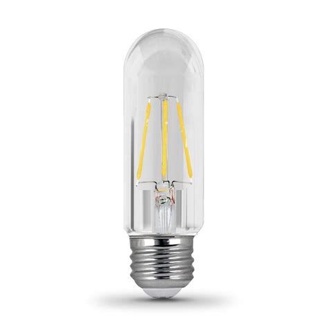 Led Clear Light Bulbs Feit Electric 40w Equivalent Soft White T10 Dimmable Clear Filament Led Medium Base Light Bulb