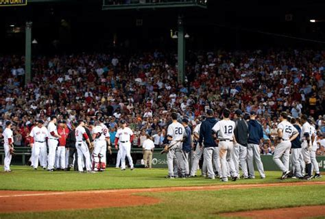 yankees red sox benches clear lackey sox don t care for cervelli s clap ny daily news
