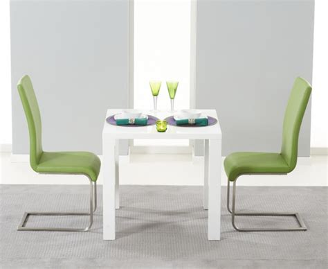 Dining Table With Green Chairs Hstead 80cm White High Gloss Dining Table With Lime Green Malaga Chairs The Great Furniture