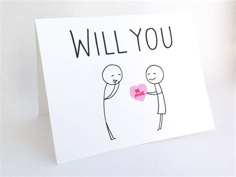 Where Will You Be On Valentines Day by Will You Be Mine Valentines Day Card Card