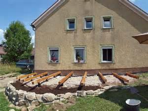 punktfundament terrasse holzterrasse www dasgranithaus de