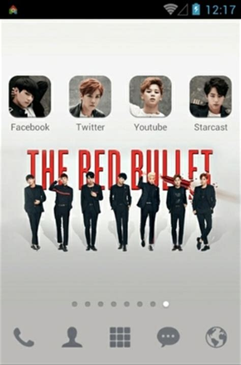 dodol launcher themes bts bts the red bullet android theme for dodol launcher