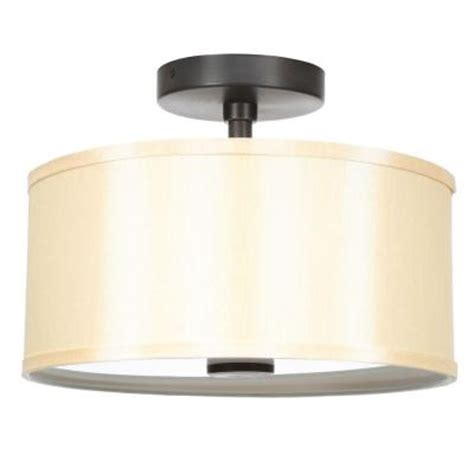 hton bay glenburn 2 light rubbed bronze semi flush