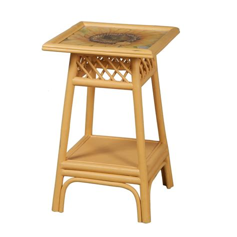 timeless classics rattan accent table