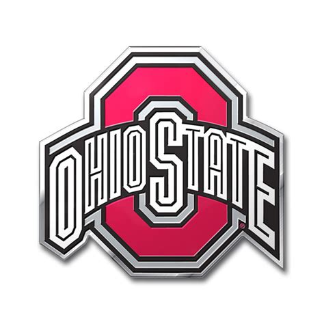 ohio state football colors ohio state buckeyes color auto emblem die cut