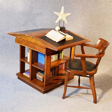 bookcase writing desk library reading table