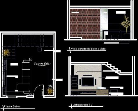 tv room dwg full project  autocad designs cad