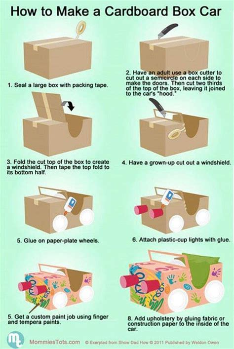 How Do You Make A Box With Paper - 25 best ideas about cardboard box cars on