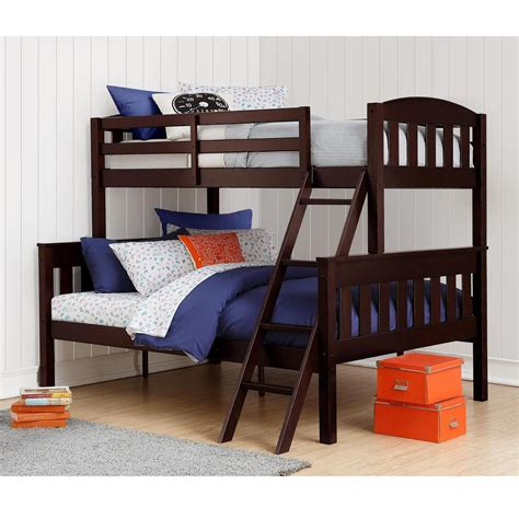 wood bunk beds twin over full dorel airlie twin over full espresso wood bunk bed fa7499e