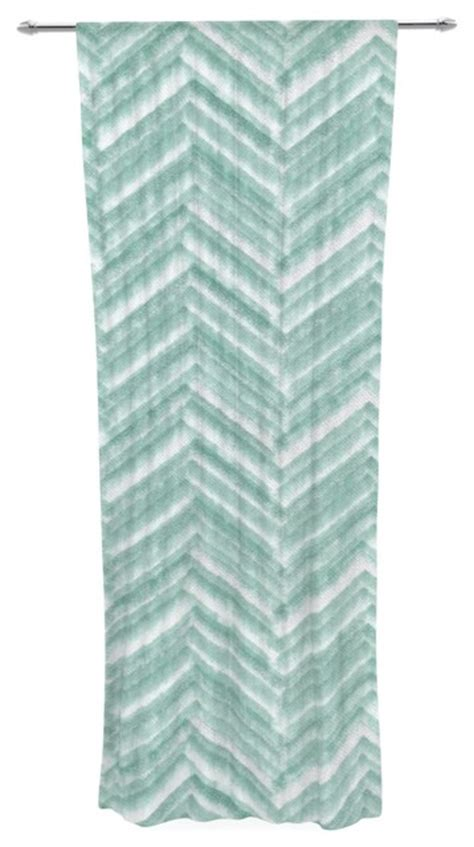 sheer chevron curtains heidi jennings quot painted chevron quot teal green decorative