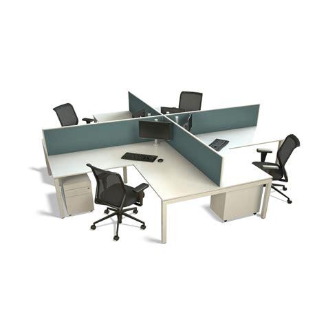 4 person workstation desk presto office furniture 50mm presto