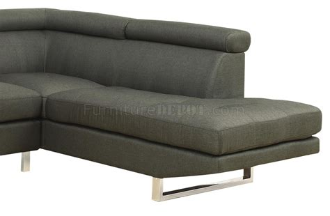grey linen sectional sofa 501221 piper sectional sofa in grey linen like fabric by
