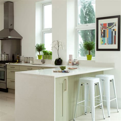 White Kitchen Island Breakfast Bar by White Kitchens For Every Style And Budget