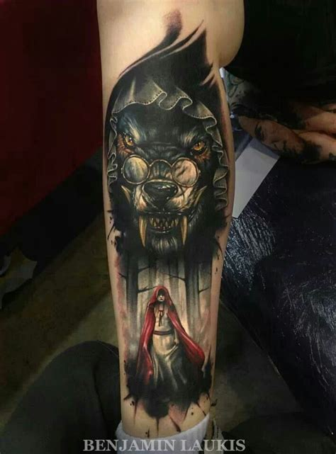 hood tattoos cool of and the wolf some