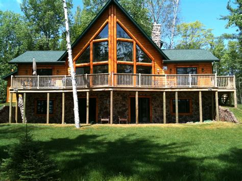 large log cabin large log cabin on beautiful chain of lakes in the