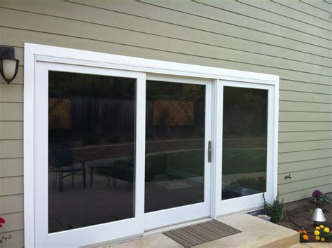 3 Panel Sliding Patio Doors Marvin Three Panel Clad Sliding Door Ot Glass