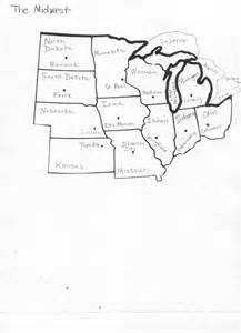 Midwest States And Capitals Blank Map by States And Capitals Neil A Armstrong Middle
