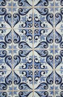 Tile Wallpaper Blue Pattern Tile Wallpaper