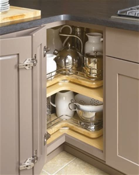 lazy susan corner kitchen cabinet pictures to pin on 33 quot super lazy susan with chrome rail i love the rails