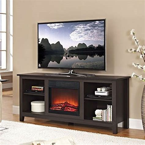 tv stands with fireplace insert espresso wood tv stand with electric fireplace heater insert electric fireplaces tv stands