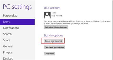 windows 8 login password reset how to change windows 8 password to login