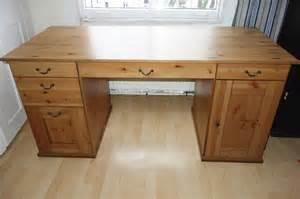 large pine desk ikea alve hemnes leksvik pine wood large desk