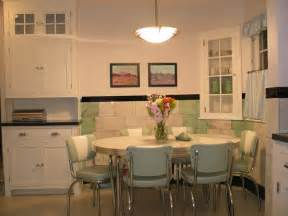 Retro kitchen table chairs white vintage look space saving