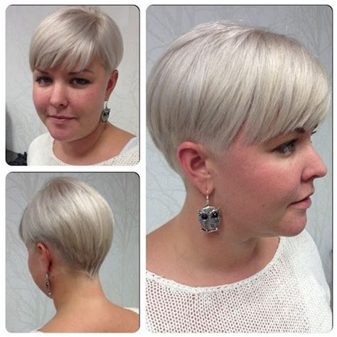 face framing short hairstyles for plus size women