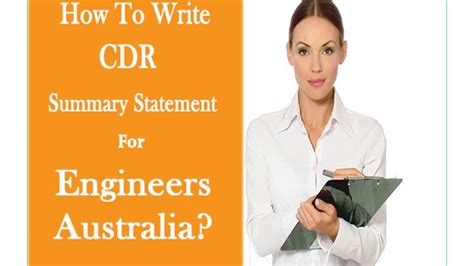 how to write summary statement for engineers australia