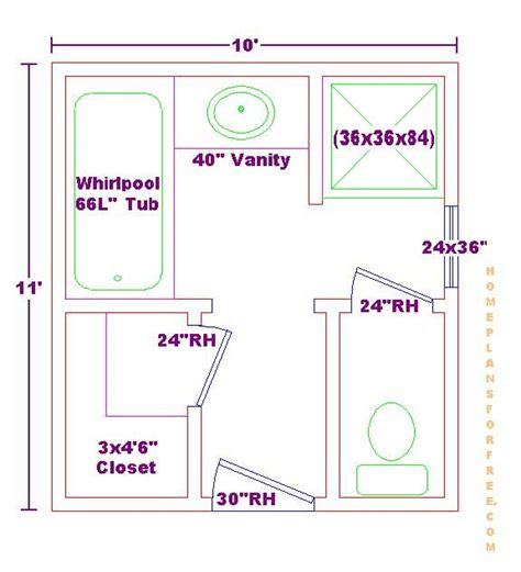 bathroom blueprints for 8x10 space home design bath ideas 10x11 floor plan bath pinterest