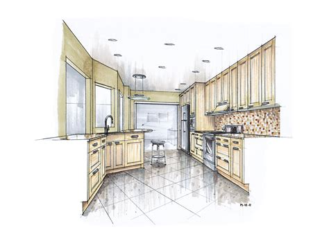 kitchen drawings more recent kitchen renderings mick ricereto interior