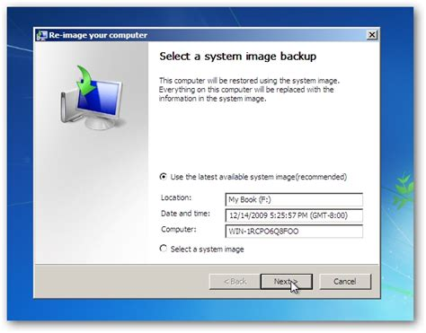 how to restore windows 7 from a system image